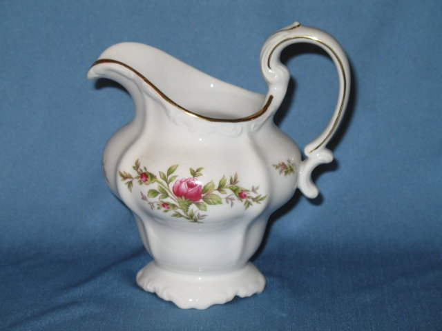 Johann Haviland, Bavaria Germany Moss Rose creamer