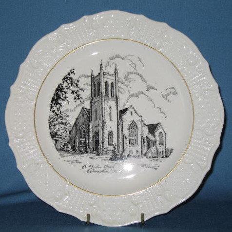 Saint Paul's Church, Sellersville, PA souvenir plate