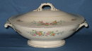 Homer Laughlin Georgian Eggshell Cashmere oval covered vegetable dish