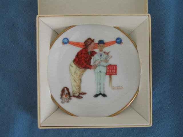 Norman Rockwell Four Seasons Miniature Plate #534: Final Speech