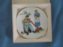 Norman Rockwell Four Seasons Miniature Plate #540: Cool Aid