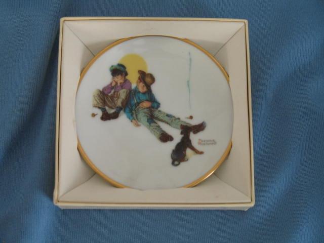 Norman Rockwell Four Seasons Miniature Plate #527: Dangerous Daring