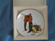 Norman Rockwell Four Seasons Miniature Plate #553: Careful Aim