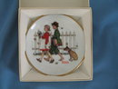 Norman Rockwell Four Seasons Miniature Plate #506: A Scholarly Pace