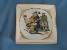 Norman Rockwell Four Seasons Miniature Plate #536: Endless Debate