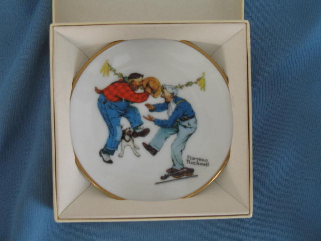 Norman Rockwell Four Seasons Miniature Plate #523: Fancy Footwork