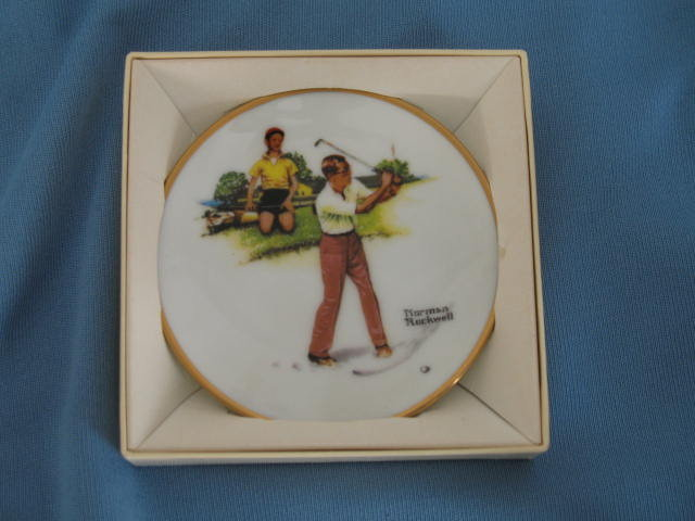 Norman Rockwell Four Seasons Miniature Plate #558: Blasting Out