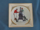Norman Rockwell Four Seasons Miniature Plate #550: The Coal Season's Coming