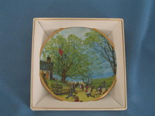 Norman Rockwell Four Seasons Miniature Plate #547: Carefree Days Ahead