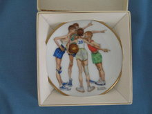 Norman Rockwell Four Seasons Miniature Plate #513: Oh Yeah