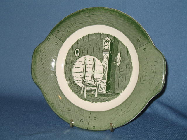 Royal (USA) Colonial Homestead green gravy underplate