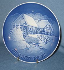 B & G 1975  Christmas at the old Water-mill plate