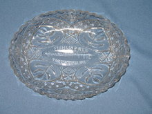 Fishkin's New Department Store, Tarentum, PA glass relish dish