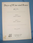 Days of Wine and Roses sheet music