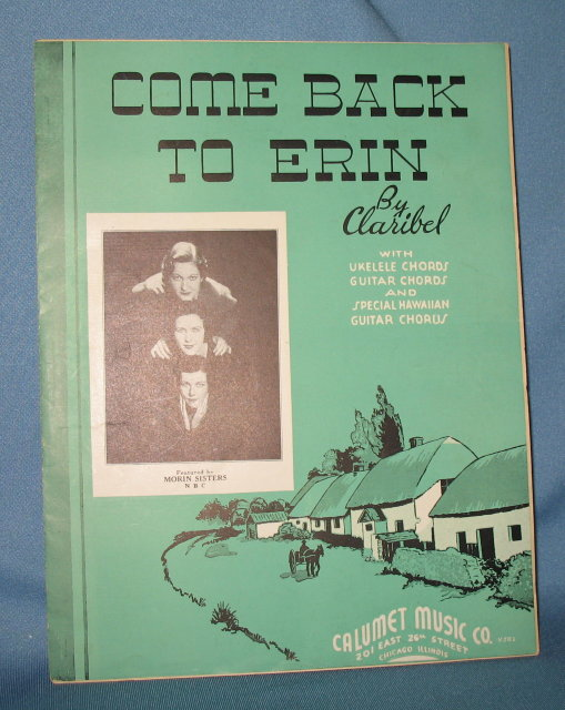 Come Back to Erin by Claribel sheet music