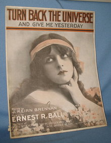 Turn Back the Universe and Give Me Yesterday sheet music