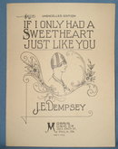 If I Only Had a Sweetheart Just Like You sheet music