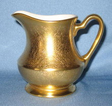 Pickard gold floral (Plain Encrusted?) creamer