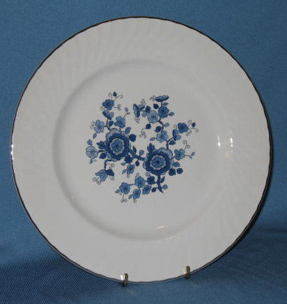 Enoch Wedgwood Royal Blue Ironstone dinner plate