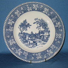 Homer Laughlin Shakespeare Country dinner plate