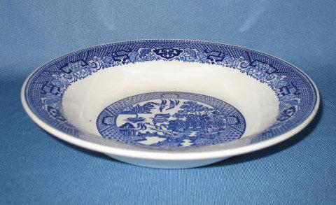 Royal China Willow Ware rimmed soup bowl