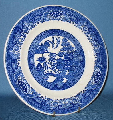 Royal China Willow Ware dinner plate