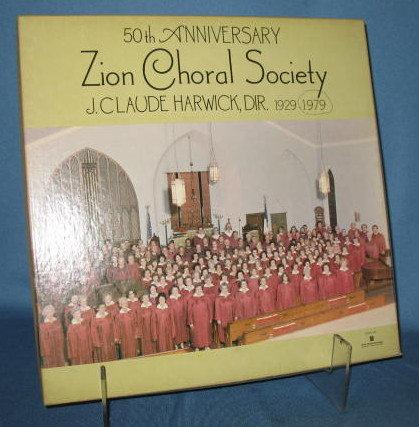 50th Anniversary Zion Choral Society 33 RPM LP