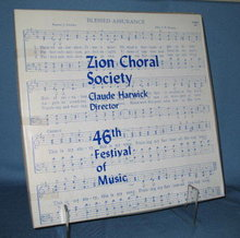 46th Anniversary Zion Choral Society 33 RPM LP