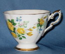 Royal Standard fine bone china cup in a yellow rose pattern