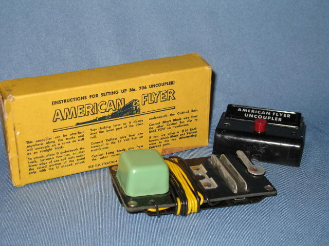 American Flyer No. 707 uncoupler in original box