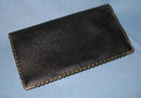 Lord Francis Genuine Morocco leather billfold with brass edges