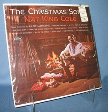 Nat King Cole : The Christmas Song 33 RPM LP record