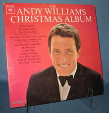 The Andy Williams Christmas Album 33 RPM LP record