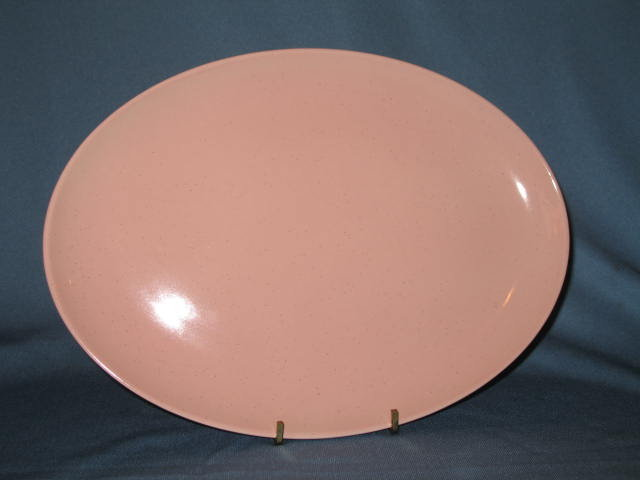 Taylor-Smith-Taylor Pebbleford Pink oval platter