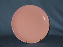 Taylor-Smith-Taylor Pebbleford Pink bread plate