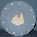 Wedgwood Boston Tea Party Jasper blue collector's plate from the Bicentennial of American Independence series