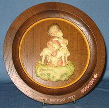 ANRI 1972 Happy Birthday collector's plate