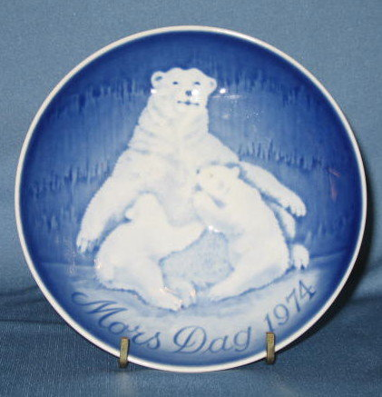 B & G Mother's Day 1974 collector's plate