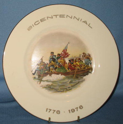 Exquisite Home Products Bicentennial Washington Crossing the Delaware collector's plate