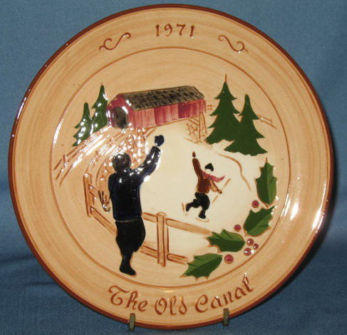 Glen View Pottery 1971 Stumar Yuletide Plate collector's plate