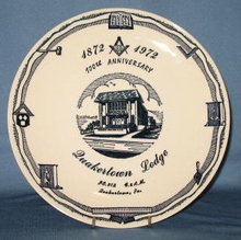 1972 100th Anniversary Quakertown Lodge No. 512 F. & A.M., Quakertown PA collector's plate
