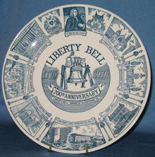 Liberty Bell 200th Anniversary, Liberty Bell Shrine of Allentown PA collector's plate