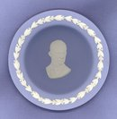 Wedgwood blue jasper Dwight Eisenhower cup plate