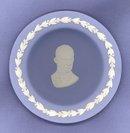Wedgwood blue jasper Dwight Eisenhower cup plate