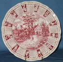 Alfred Meakin Staffordshire 1971 calendar plate in red