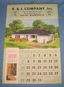 1951 K & L Company, Quakertown PA calendar