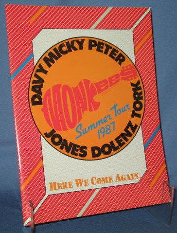 Monkees Summer Tour 1987 souvenir booklet