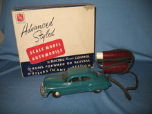 Aluminum Model Toys Inc. Electric Remote Control Scale Model Pontiac in aqua green