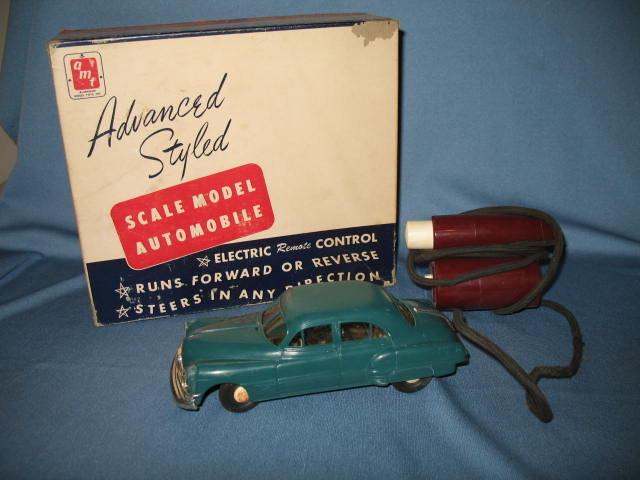 Aluminum Model Toys Inc. Electric Remote Control Scale Model Pontiac in aqua green
