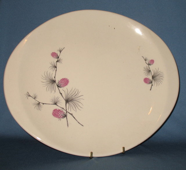 Canonsburg Pottery Wild Clover oval platter